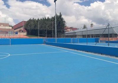Protectores Campos de fútbol sala del Complejo Deportivo Lorenzo Rico
