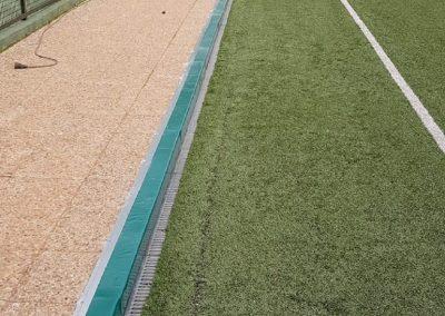 Protectores bordillo Polideportivo de Torrelodones